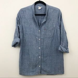 Levi's chambray oversized button down - L
